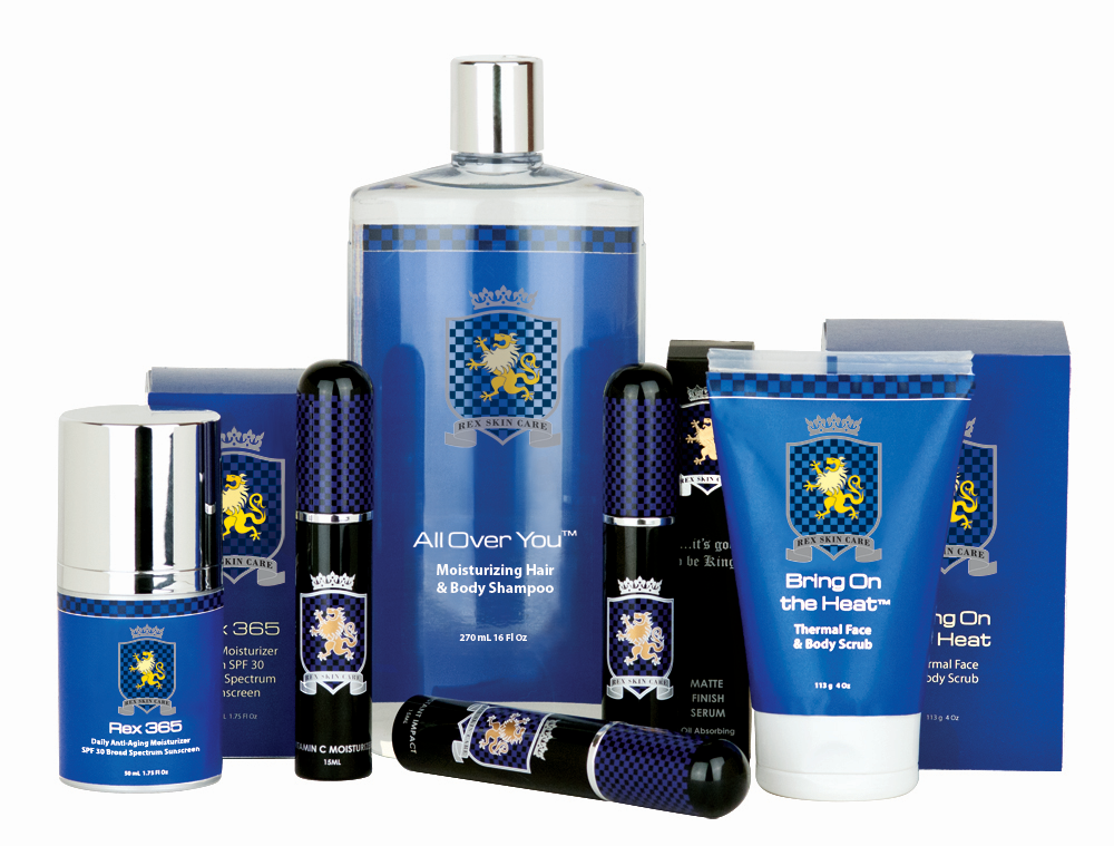 Luxury men's skin care products